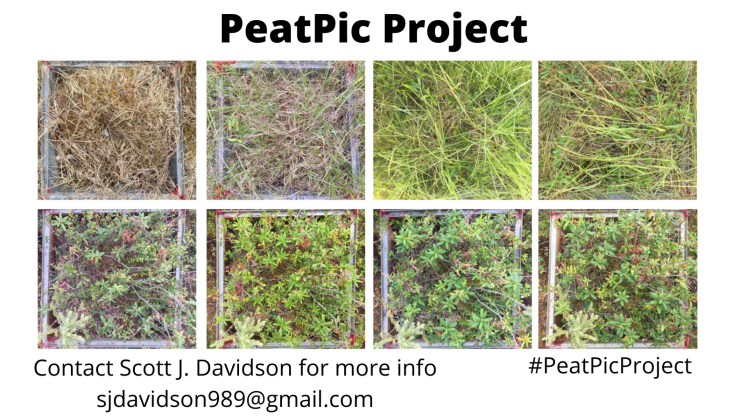 PeatPic project_ Call for collaborators We are currently looking for collaborators to submit data for the 'PeatPic' project led by Dr. Scott J. Davidson, University of Waterloo. The goal of this project is to build a (3)